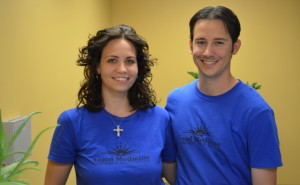 Friendly acupuncture physicians Dominic and Carly